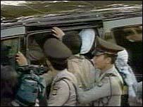 A car carrying Abu Bakar Ba'asyir
