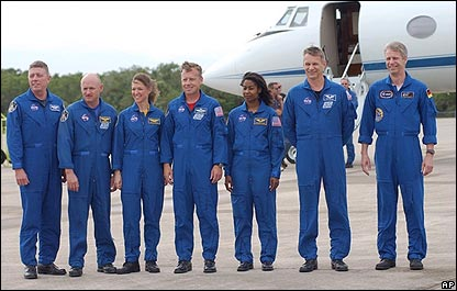 Arrival of STS-121 astronauts at Kennedy Space Center, AP