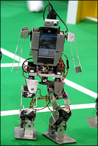 Humanoid robot footballer