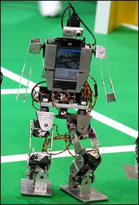 Humanoid robot footballer
