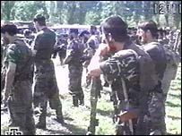 A rebel training camp in Chechnya