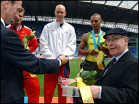 Coronation Street character Norris Cole at the Commonwealth Games