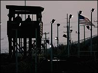 Dusk at Guantanamo Bay                            prison camp