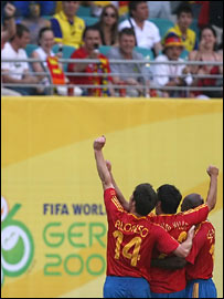Spain impressed in winning 4-0