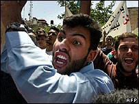 Hamas demonstrators