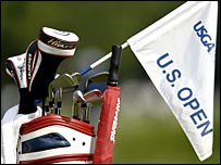 Golf editor Matt Slater waves the flag for the US Open