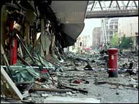 Corporation Street after the bomb
