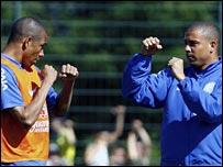 Gilberto Silva and Ronaldo