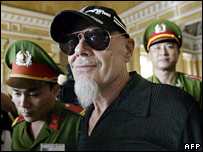Gary Glitter arrives at his one-day appeal hearing