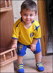 A Sweden fan enjoys the World Cup
