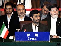 Mahmoud Ahmadinejad at the summit