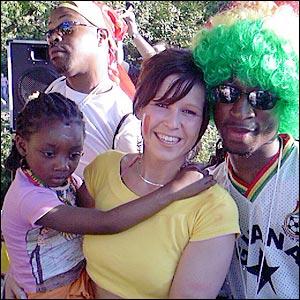 Ghana fans in party mood