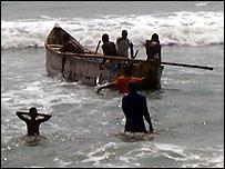 Ghanaian fishermen