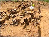 The remains of the medieval village