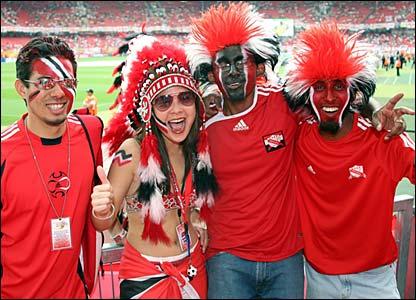 Trinidad & Tobago fans in the Franken-Stadion
