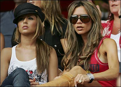 Cheryl Tweedy and Victoria Beckham