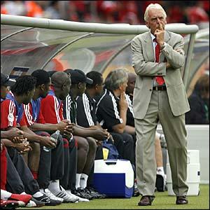 Trinidad coach Leo Beenhakker ponders substitutions