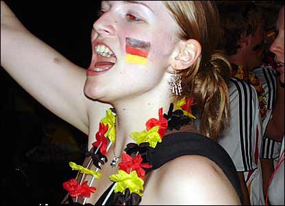 The German's party until late at Brandenberg Gate