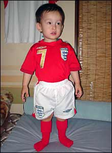 Young England fan in Japan