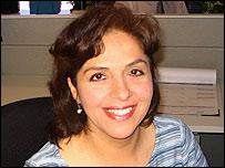 María Luisa Arredondo, editora de portada del diario La Opinión de Los Angeles