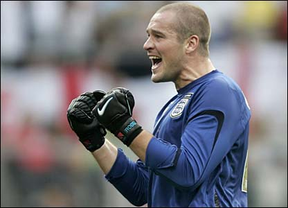 Paul Robinson celebrates after the final whistle