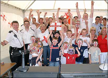 England street party celebrations