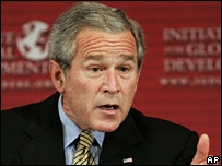 US President Bush during the Initiative for Global Development