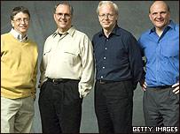 Bill Gates, Craig Mundie, Ray Ozzie y Steve Ballmer