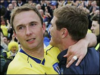 Kevin Watson (left) and Phil Parkinson
