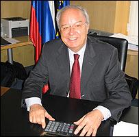 Slovenia's Finance Minister Andrej Bajuk