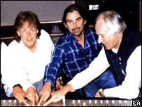 Sir Paul McCartney, George Harrison, George Martin