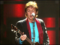 Sir Paul McCartney in concert