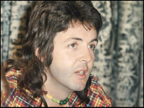 Sir Paul McCartney in the 1970s