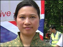 Christine Lee, chairman of the North London Chinese Association