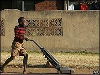 Niño habitante de Soweto.