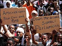 Somali demonstrators