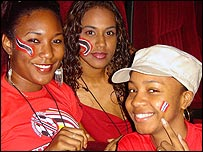 Trinidad and Tobago fans in Port of Spain (Pic: Nylah Ali)