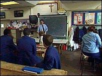 classroom in a faith school