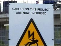 Live cables sign
