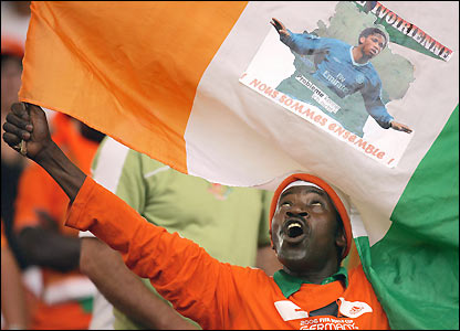 An Ivory Coast fan 