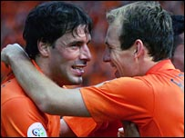 Ruud van Nistelrooy (left) and Arjen Robben 