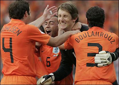 Holland celebrate