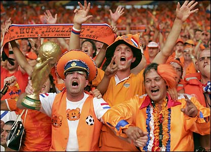Holland fans celebrate