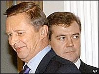 Сергей Иванов и Дмитрий Медведев