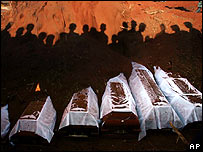 Funeral of bus blast victims