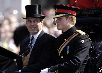 The Duke of York and Prince Harry