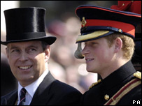 Prince Harry with his uncle, the Duke of York