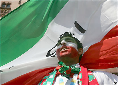 An Iran fan