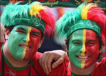 Portugal fans prepare in Frankfurt