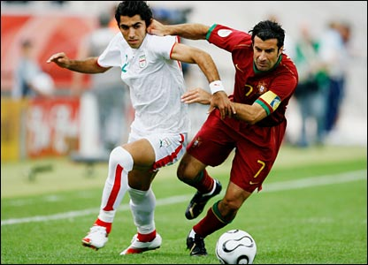 Figo and Madanchi in action in Frankfurt
